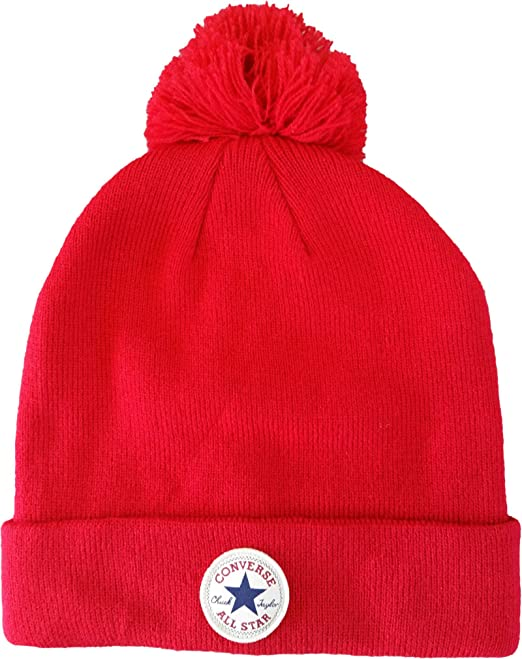 d2c9bd900070e Converse Bobble Beanie - Red: Amazon.co.uk: Clothing