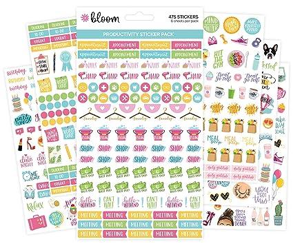 Bloom - Pegatinas para agendas.: Amazon.es: Oficina y papelería