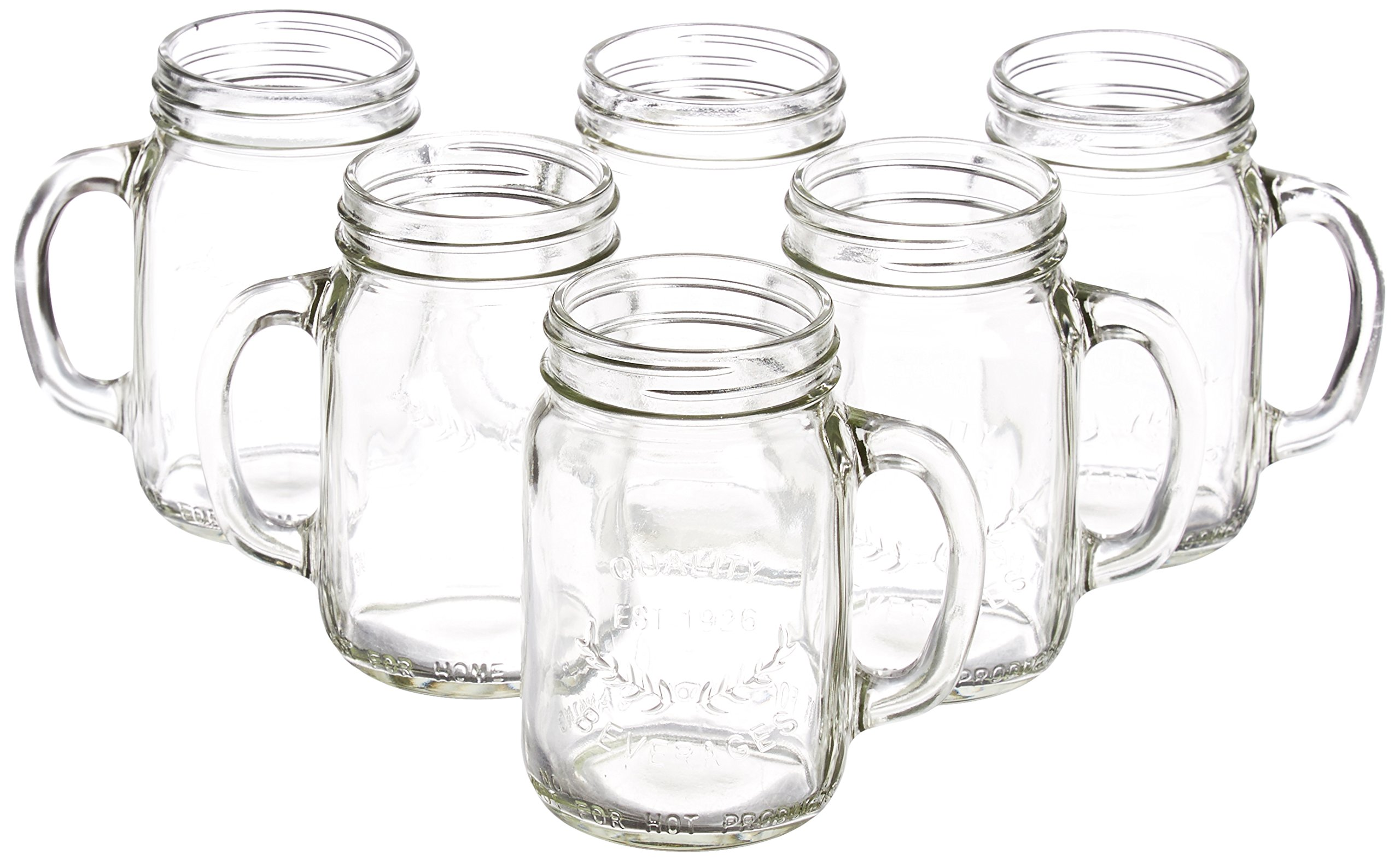 Artland Masonware Beverage Jar with Chiller and Infuser, 6 Mason Jars, Faux Wicker Stand by ARTLAND (Image #4)