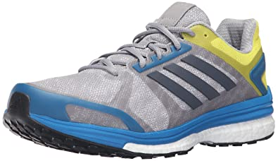 low priced 4a485 529e1 adidas Men s Supernova Sequence 9 M Running Shoe Mid Grey Utility Unity  Blue Fabric, 6.5