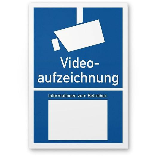 Video Vigilancia/grabación de vídeo Cartel según DIN 33450 ...