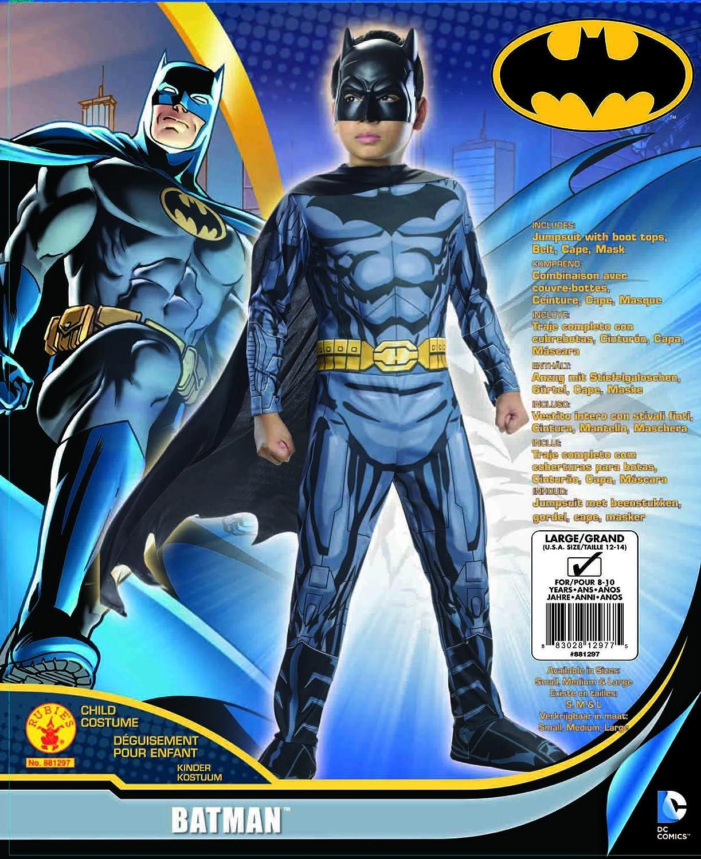 Rubies DC Super Heroes Child Batman Costume, Large (12-14)