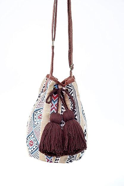 73cb3358d902a3 Amazon.com: Little Thai Women Hippie Handbags Hobo Shoulder Bag Sling  Crossbody Purse Tote Fashion: Shoes