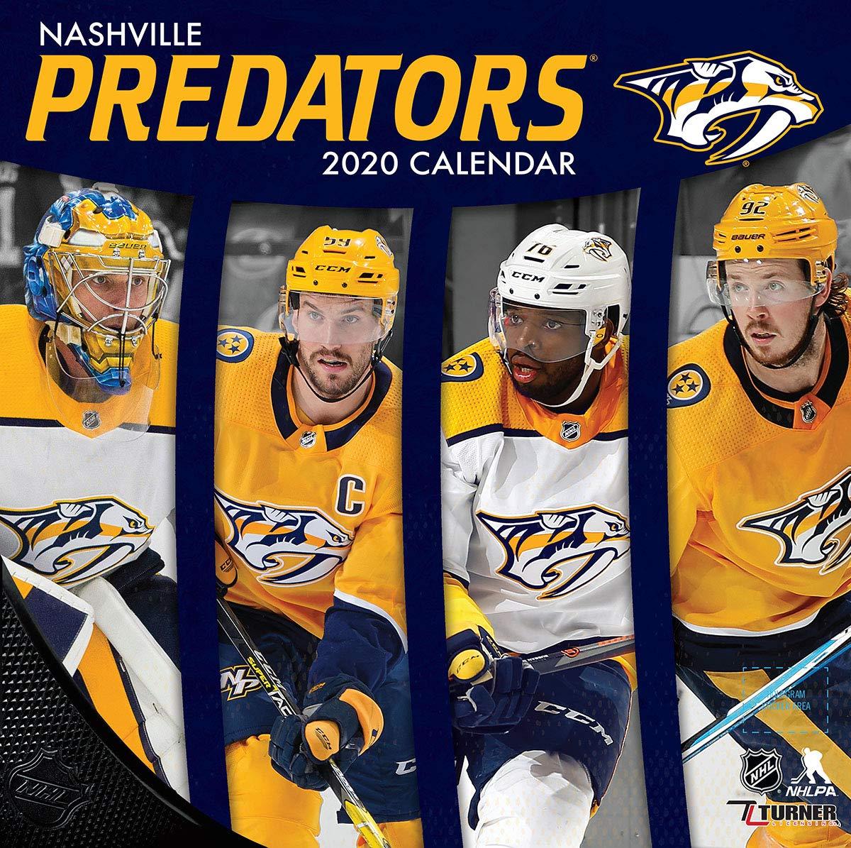 Nashville Predators  2020 12x12 Team Wall Calendar