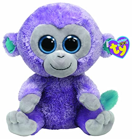 Amazon.com  Ty Beanie Boo Buddy Blueberry Monkey  Toys   Games 183bf2ccb2d