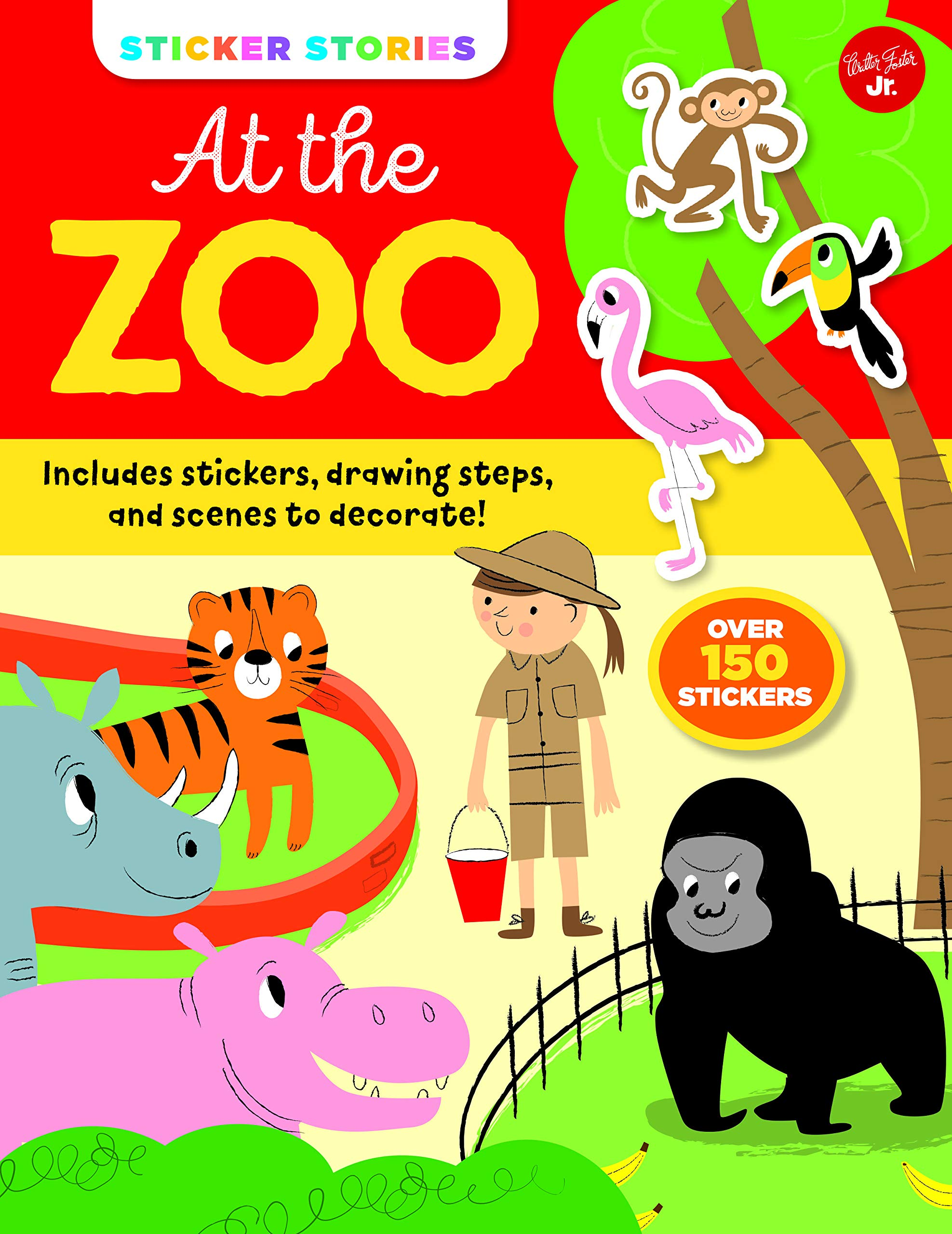 Buy Sticker Stories At The Zoo Includes Stickers Drawing Steps And Scenes To Decorate Over 150 Stickers Book Online At Low Prices In India Sticker Stories At The Zoo Includes Stickers