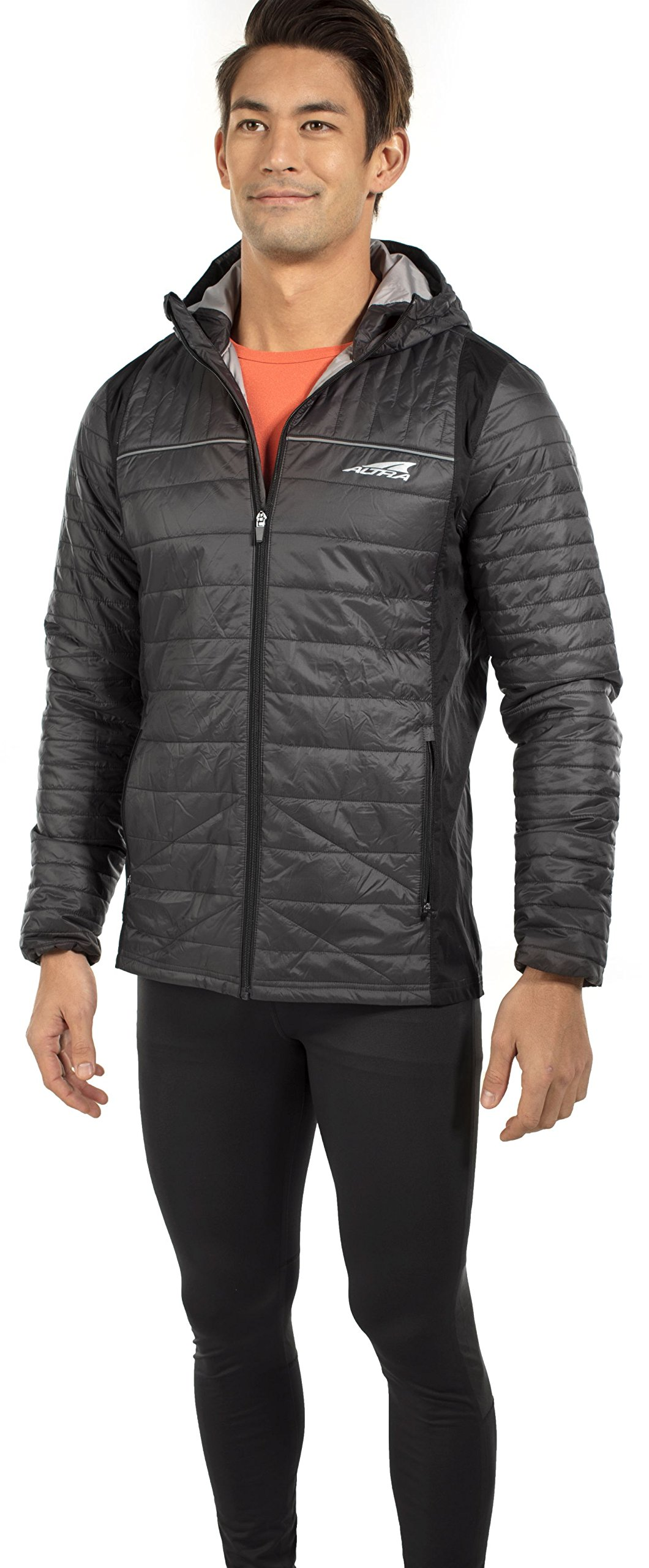 Altra Micropuff Stretch Jacket - Men's Black Large by Altra (Image #1)