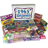 52nd Birthday Gift Box of Nostalgic Retro Candy from Childhood for a 52 Year Old Man or Woman Born in 1965 - '60s Jr