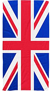 USA//British Flag Union Jack Pattern Bath Beach Large Towel Soft Washcloth B C3K4