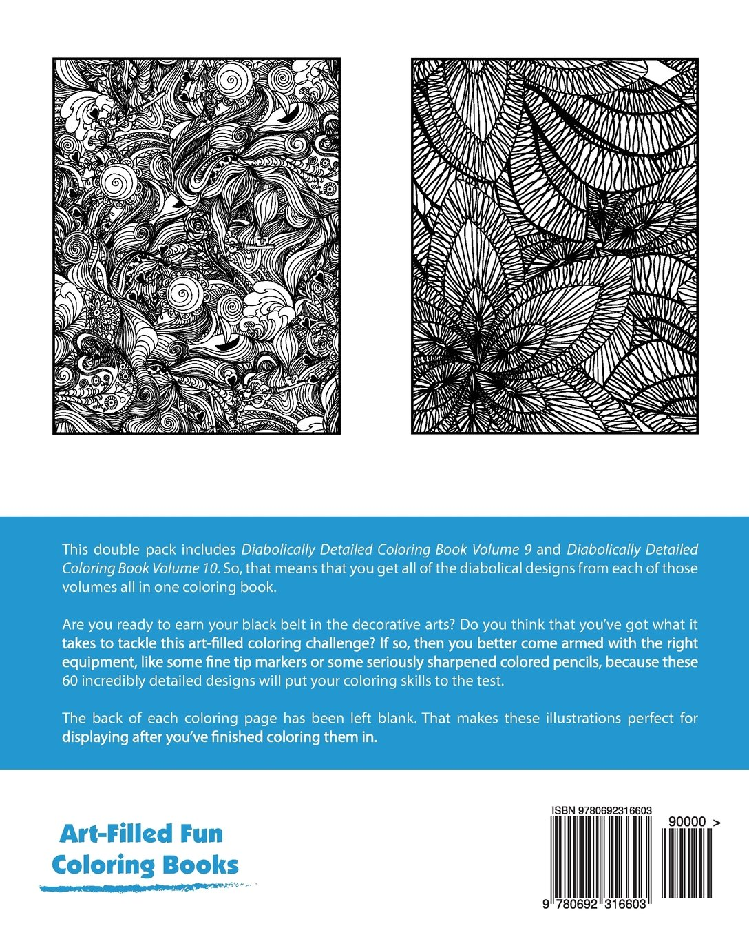 Diabolically Detailed Coloring Book Double Pack (Volumes 9 & 10 ...