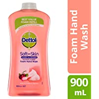 Dettol Touch of Foam Hand Wash Rose & Cherry Anti-Bacterial Refill, 900ml