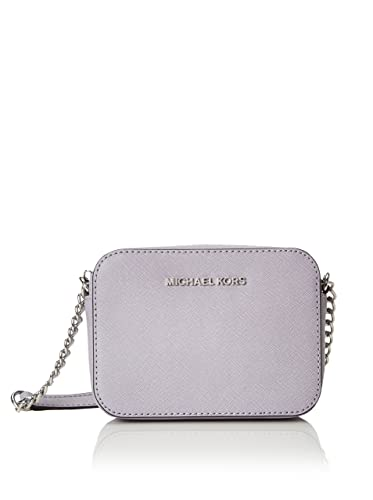 c69444b34bcc Michael Kors 32S4STVC1L 502 Saffiano Mini Jet Set, Travel Crossbody Bag,  Lilac