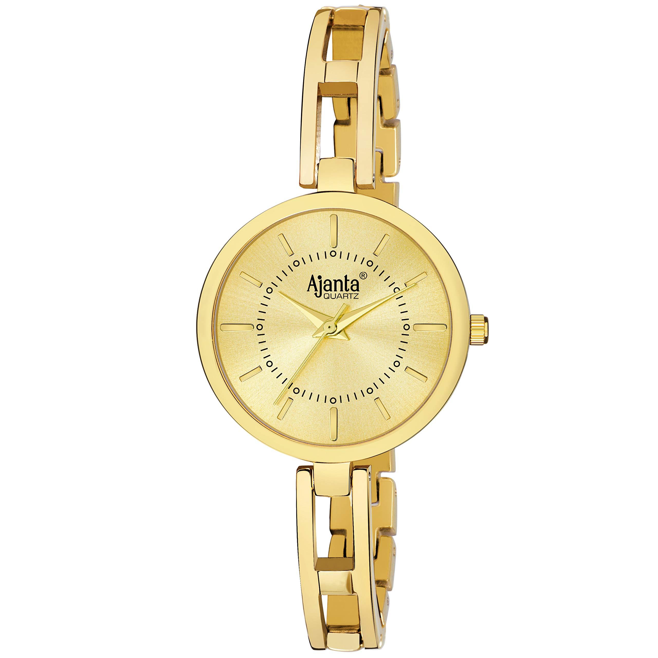 Ajanta Quartz Analogue Golden Dial Women's Watch (Golden) - AWC208-2-GLG-GL (B07WC26STS) Amazon Price History, Amazon Price Tracker