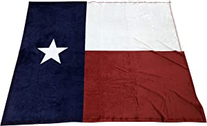 """Texas Flag Throw Blanket for Couch - 50"""" x 60"""", Lone Star State, Soft Cozy Fleece, Home Decor, Red, White, Blue, USA, Living Room Sofa, Bed, Chair Decor, Office, TX State Flag"""