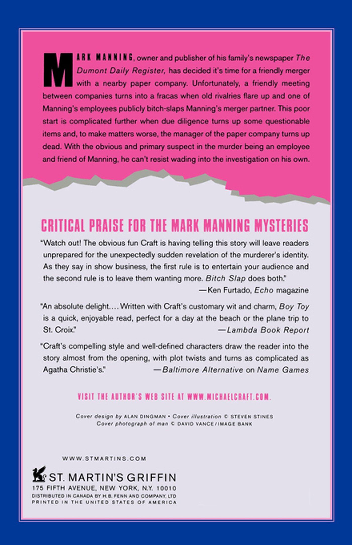 Bitch Slap: A Mark Manning Mystery (mark Manning Mysteries): Michael Craft:  9780312342708: Amazon: Books
