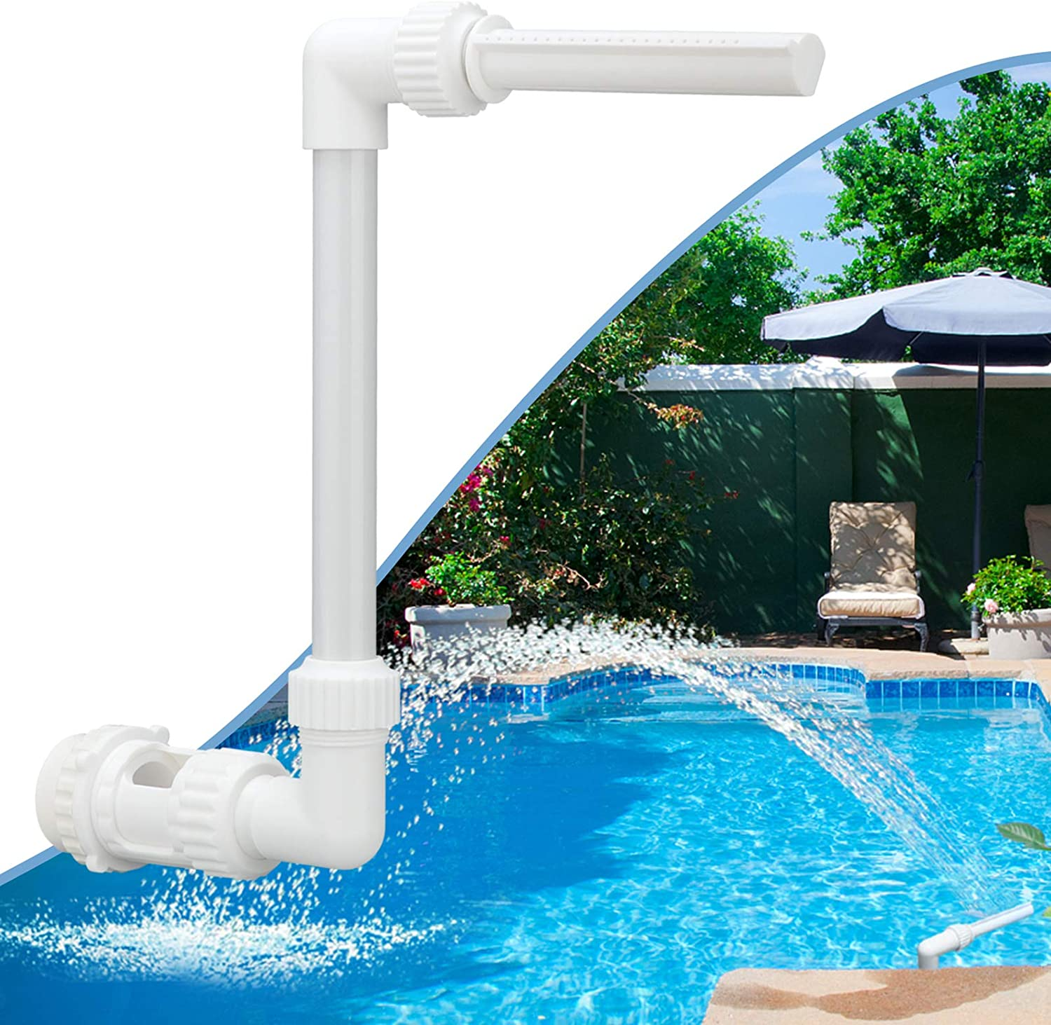 Zconiey Pool Waterfall Spray Pond Fountain Water Fun Sprinklers Above In Ground Swimming Pool Decor Kitchen Dining