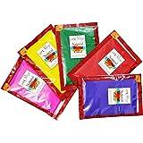 meSleep Multicolor Holi Colors, Herbal Gulaal 500 Grams in 5 Colors, 100 Grams each, HERBAL and ORGANIC