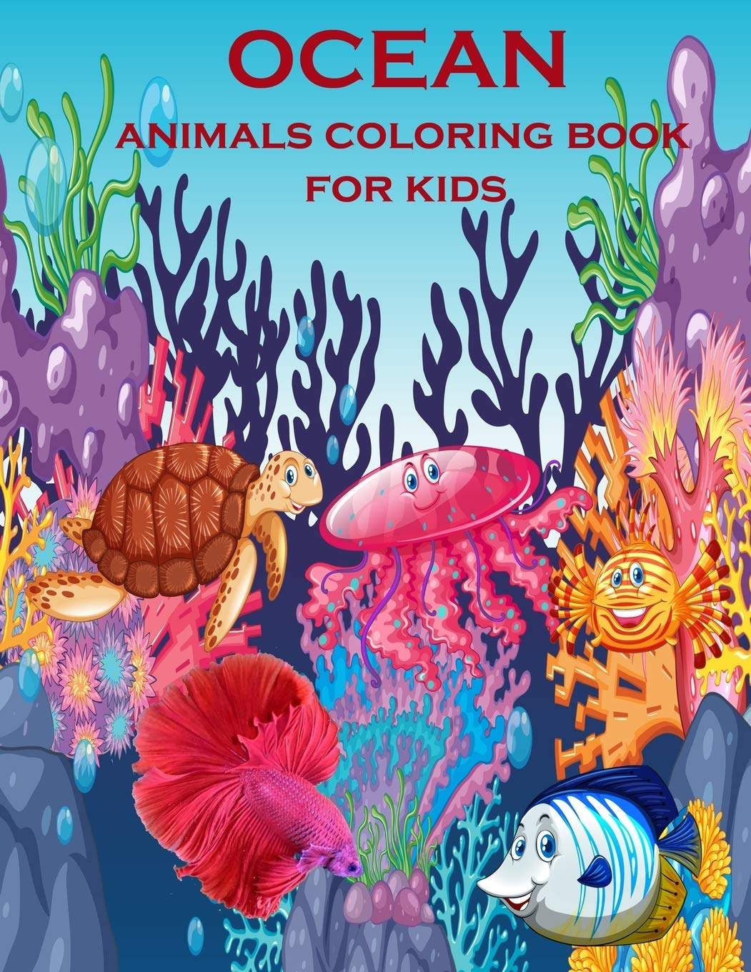 Ocean Animals Coloring Book For Kids Creative Haven Fanciful Sea