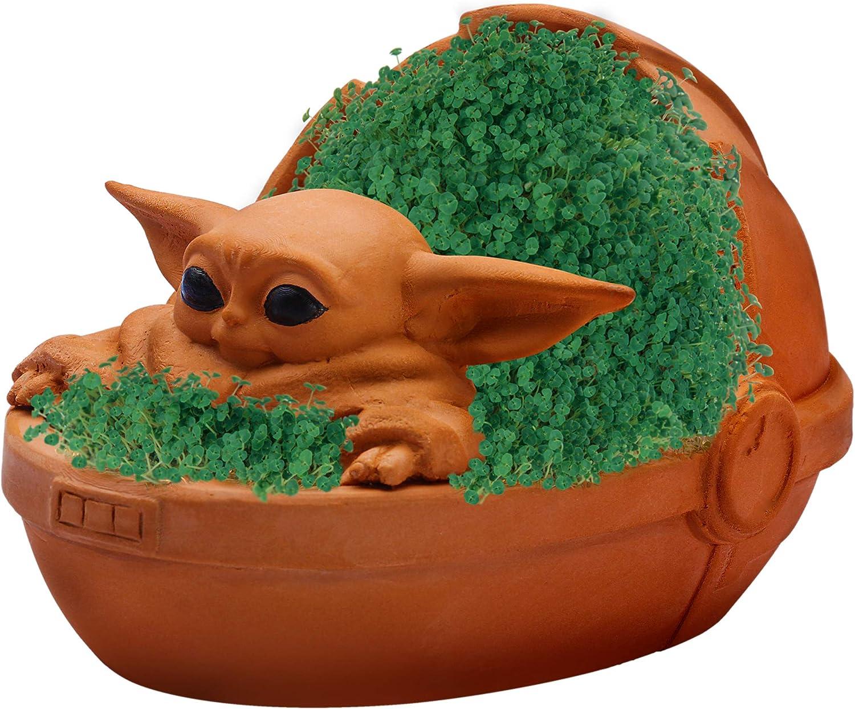 Star Wars: The Mandalorian The Child Baby Yoda Chia Pet Decorative Planter:  Amazon.es: Juguetes y juegos
