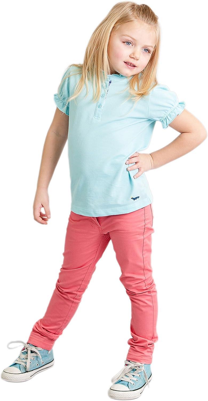 Sitmptol Baby Toddler Girls Cotton Elastic Waist Pull-on Polka Dot Long Pants