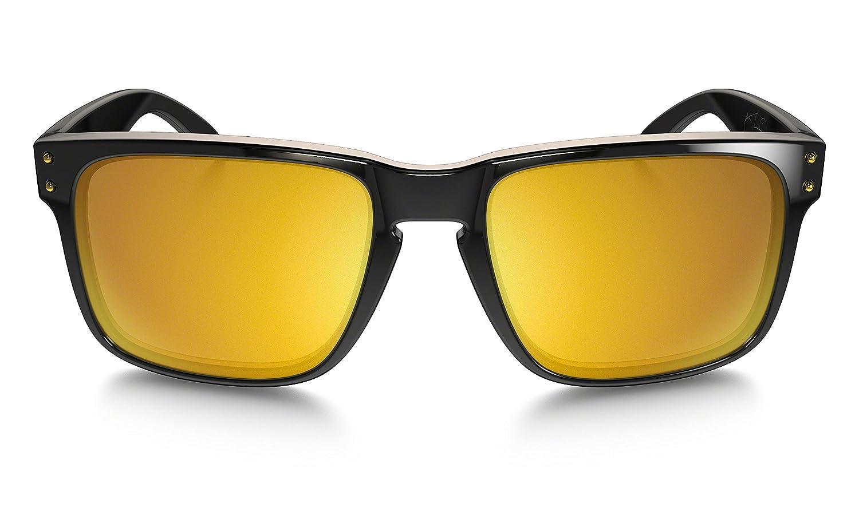 f8aa2870e6894f Oakley - Lunette de soleil Holbrook Wayfarer - Homme, Polished Black 24K  Gold Iridium (S3)  Amazon.fr  Vêtements et accessoires