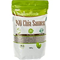 BIO Chia Samen BIO - 1000 g - Chiasamen 1kg - DE-ÖKO-039 - Love Foods - Bonus: Inklusiv Rezepte-eBook