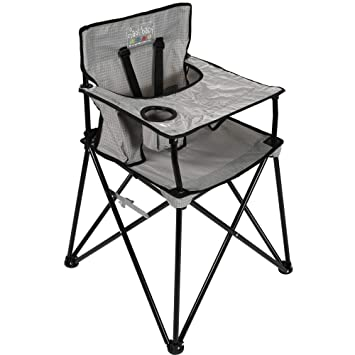 Strange Ciao Baby Portable High Chair For Travel Fold Up High Chair With Tray Grey Check Gmtry Best Dining Table And Chair Ideas Images Gmtryco