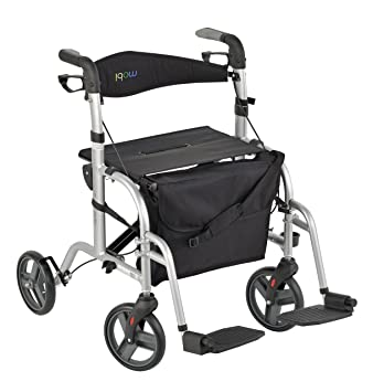 Juvo Convertible Rollator-Transport Chair 250-Pound Capacity Silver (TCH103)  sc 1 st  Amazon.com & Amazon.com: Juvo Convertible Rollator-Transport Chair 250-Pound ...