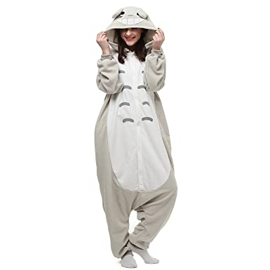 Amazon.com  VU ROUL Unisex Adult Costume My Neighbor Totoro Onesie Pajamas   Clothing 3c06f821d
