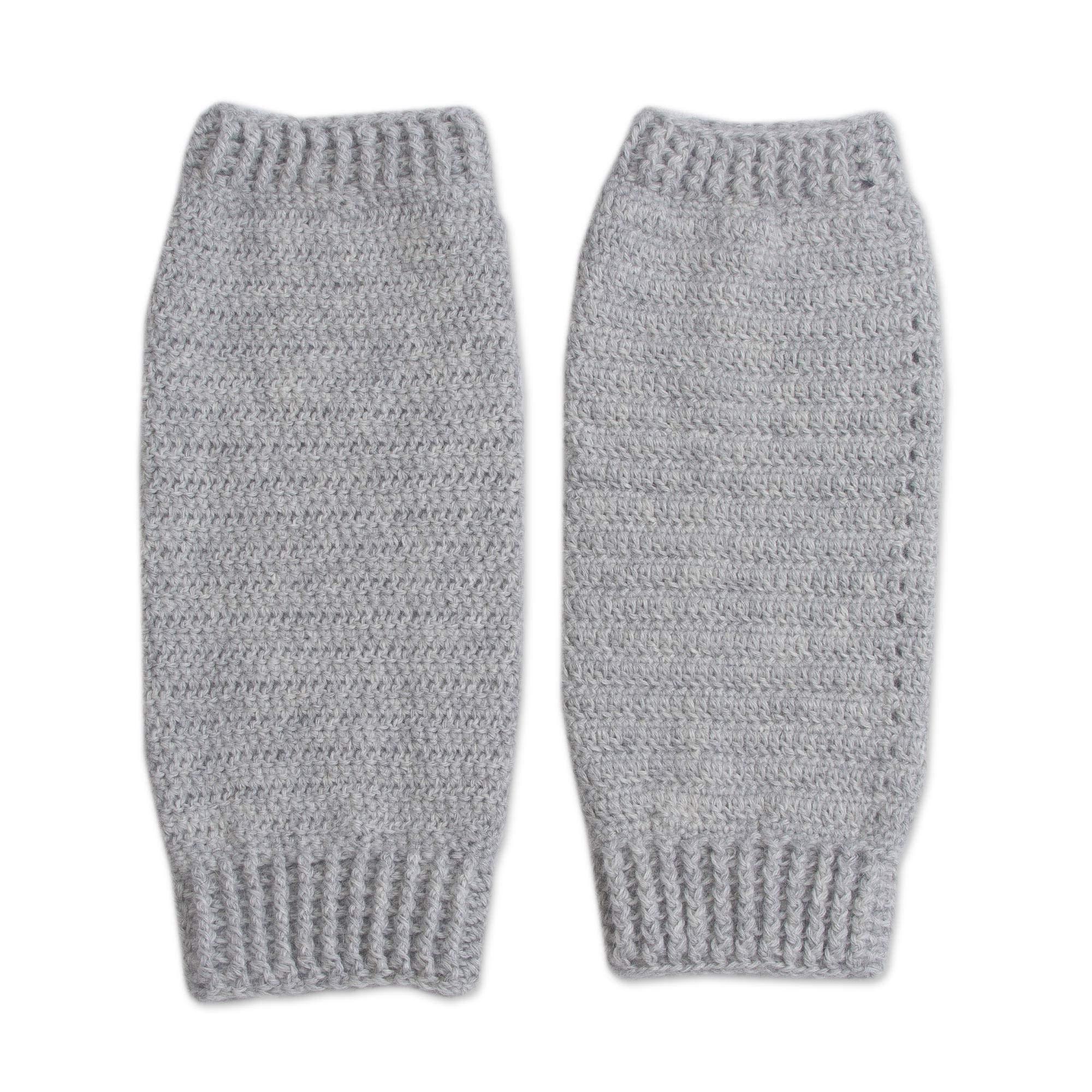 NOVICA Gray Alpaca Blend Leg Warmers, Cozy Smoke Grey' by NOVICA