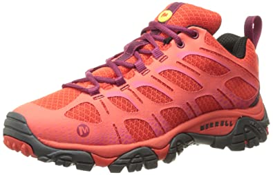 Merrell Women's Moab Edge Hiking Shoe, Coral, ...