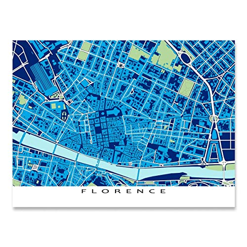 Amazon florence italy map print europe city street art florence italy map print europe city street art blueprint malvernweather Gallery