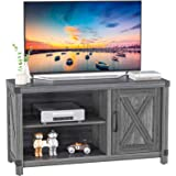 TV Console Cabinet for TVs up to 50 Inch W/Media Shelves, Farmhouse TV Stand Style Entertainment Center for Soundbar or Other