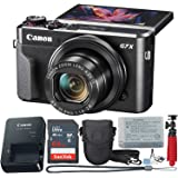 Canon PowerShot Digital Camera G7 X Mark II with Wi-Fi & NFC, LCD Screen, and 1-inch Sensor - (Black) 11 Piece Value…