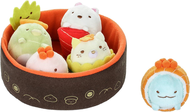 Sumikko Gurashi by San-X Sushi Bowl - Neko, Penguin, Tonkatsu, Tokage Lizard, Weed, White Bear Plush, Doll, Stuff Animal Authentic Licensed Product