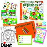 Diset 63630 - Colorea Con Pegatinas