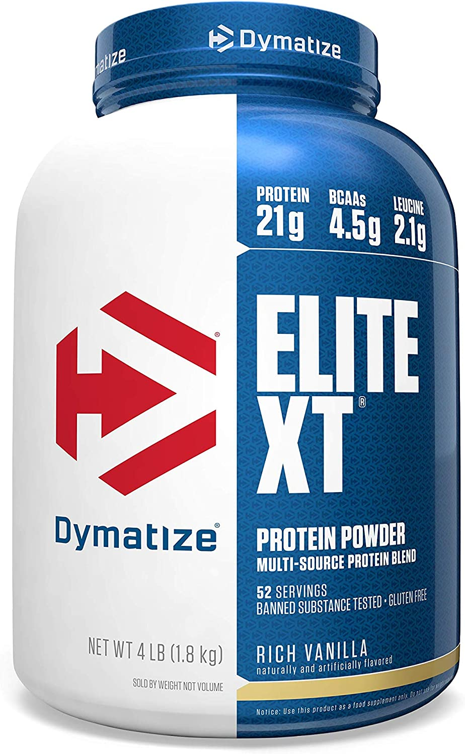 Dymatize Elite XT Protein Powder Blend, Rich Vanilla, 4 lbs