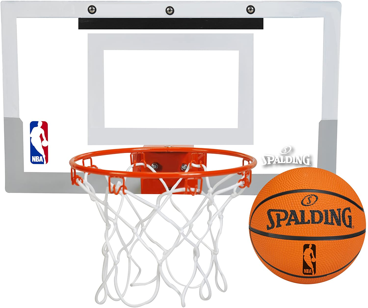 Spalding NBA Jam Over-The-Door Mini Basketball Hoop : Wall Mount Basketball Backboards : Sports & Outdoors