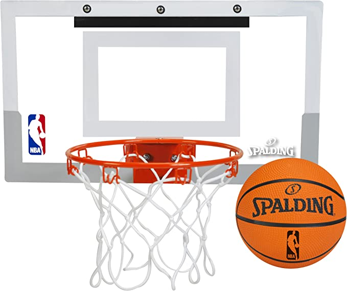 Basketball Hoop for Kids Over The Door Backboard with Metal Rim Sport Indoor Outdoor Play Games with Pump and Ball for Boys Age 3 4 5