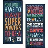 Superhero Rules Set by Stephanie Marrott; Two 8x18 Prints