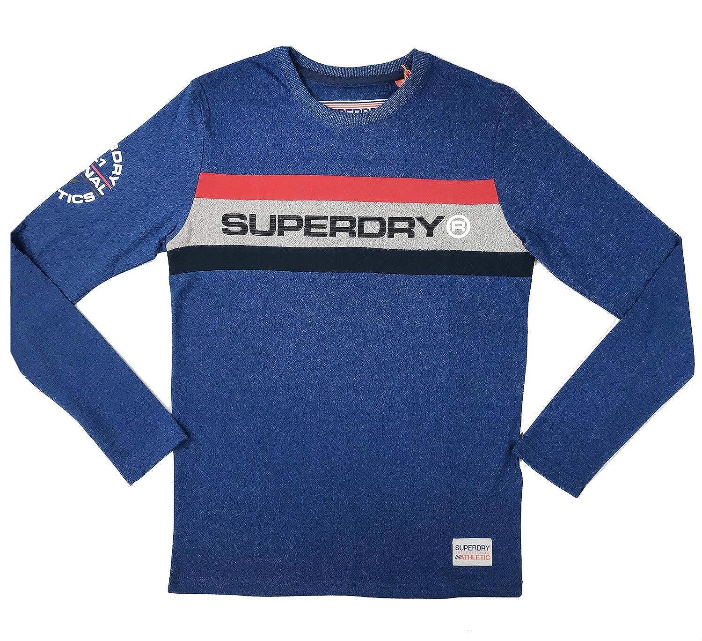 762fdc1b Mens Blue Superdry T Shirt   Top Mode Depot