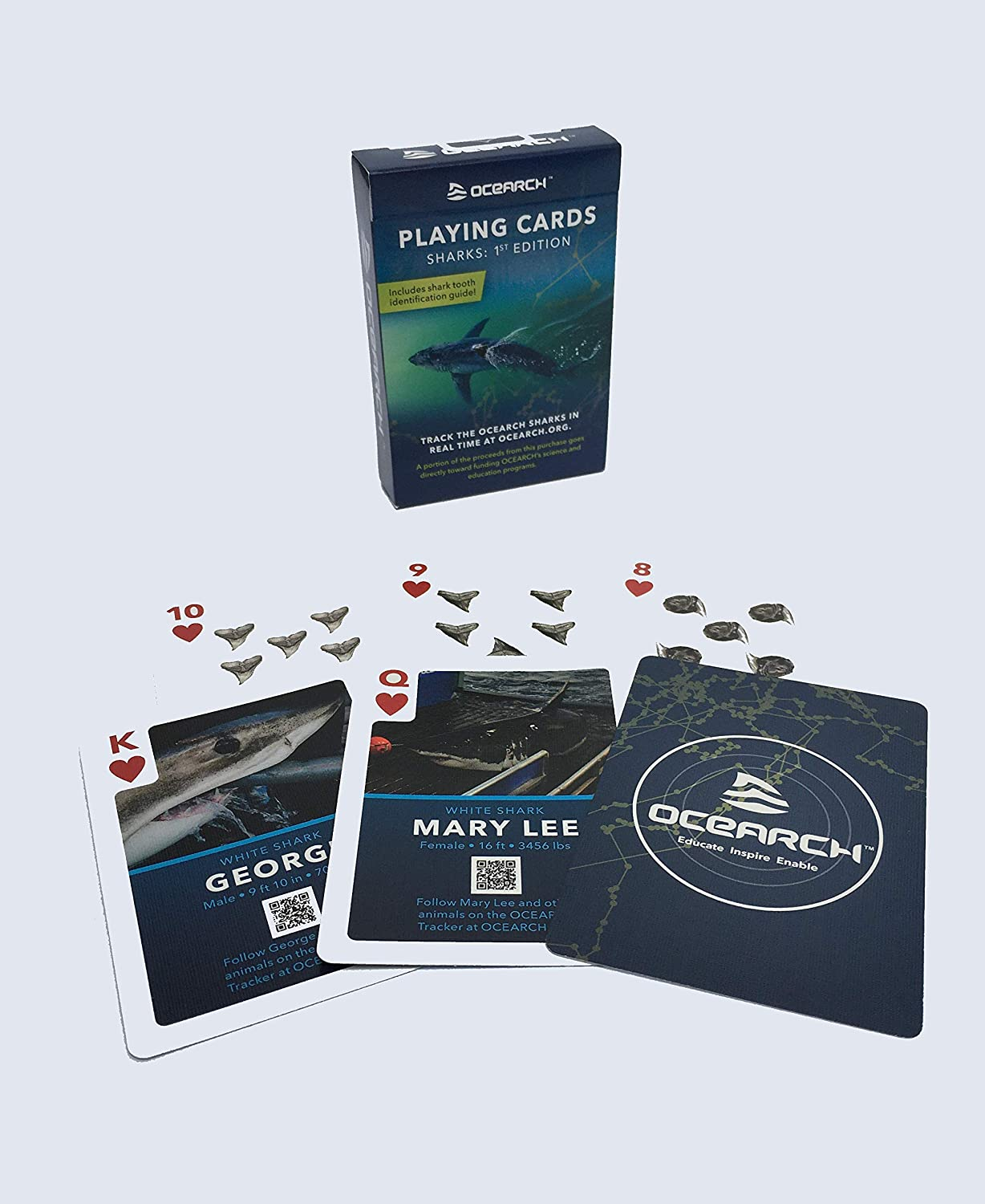 Ocean Family Games Inc OCEARCH Playing Cards Sharks: 1st Edition