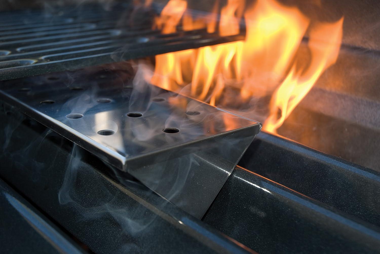 Charcoal Companion Recipiente de Ahumado Grande en Forma de V para Parrilla de Gas de Acero Inoxidable