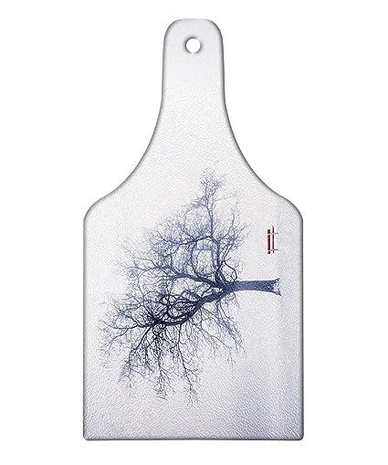 18b8093255d3b Amazon.com: Lunarable Tree Cutting Board, Winter with Frozen Grass ...