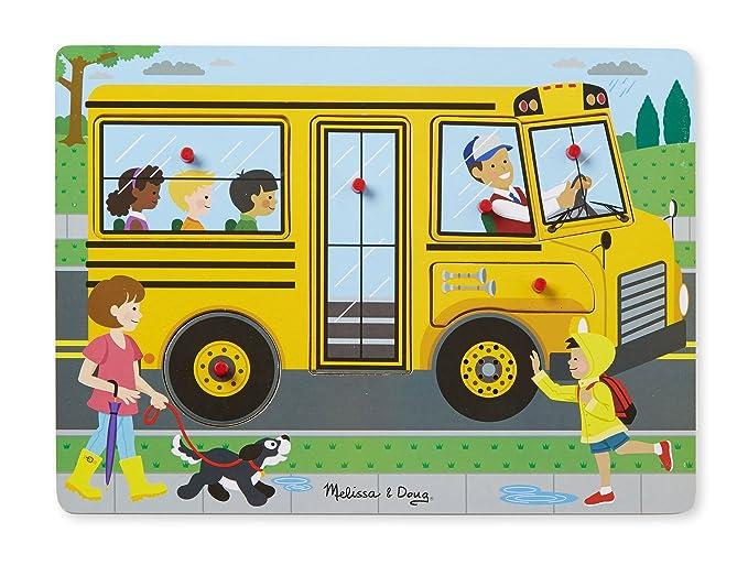 Melissa & Doug Wheels on The Bus Sound Puzzle (10739: Amazon.es: Juguetes y juegos