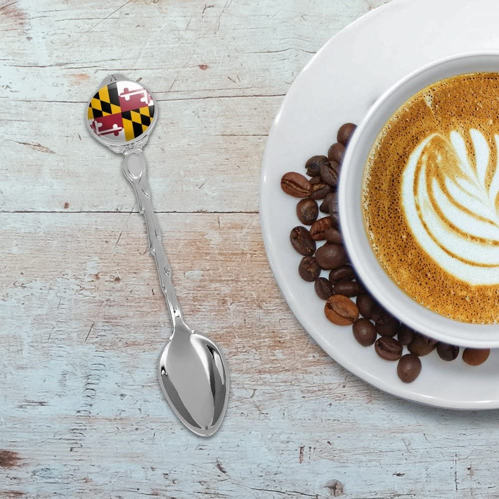 Maryland State Flag Novelty Collectible Demitasse Tea Coffee Spoon