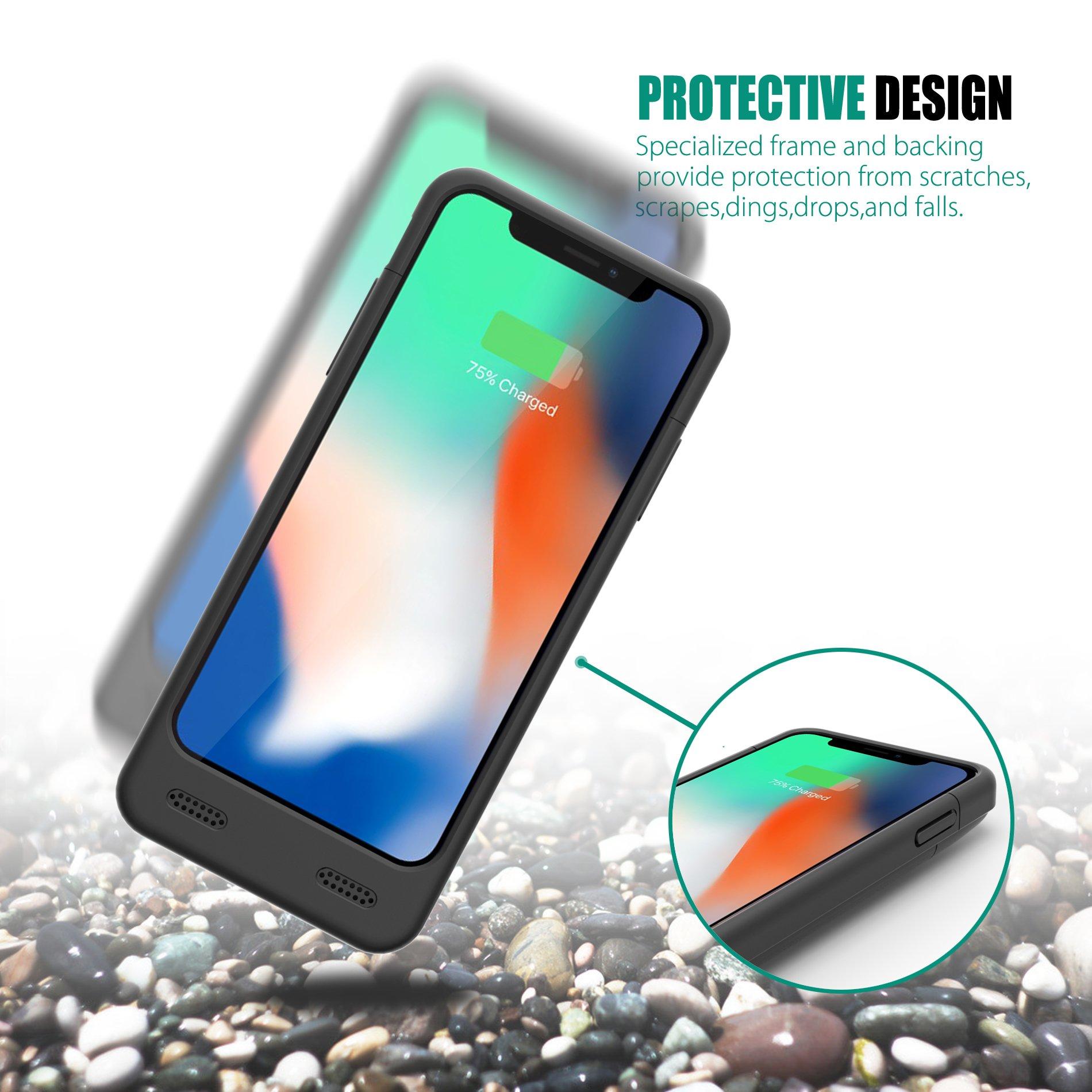 promo code b7f1e d2931 iPhone X Battery Case Version 1.0, ZeroLemon iPhone X 4000mAh Slim Juicer  Extended Battery Case Rechargeable Charging Case for iPhone X [Apple ...