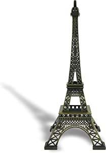 "allgala 24"" Eiffel Tower Statue Decor Alloy Metal, Bronze"