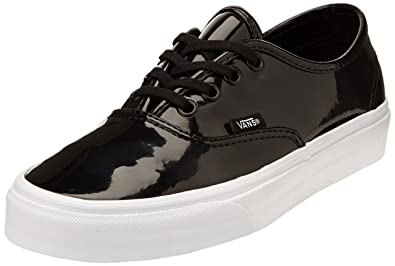 66f97dbcce Vans Unisex Authentic (Patent Leather) Patent Leather Black Skate Shoe 5  Men US