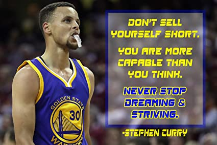 best service 8b267 b4819 Amazon.com: Stephen Curry Poster Quote Cool Golden State ...